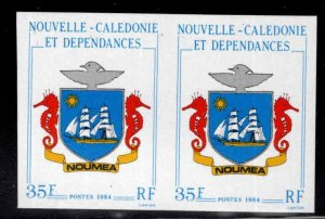New Caledonia (NCE) Scott 500 Imperforate Noumea Coat of Arms pair MNH**
