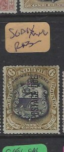 NORTH BORNEO  (P2601B)  6C POSTAGE DUE  , ARMS, LION  SG D20   MNG