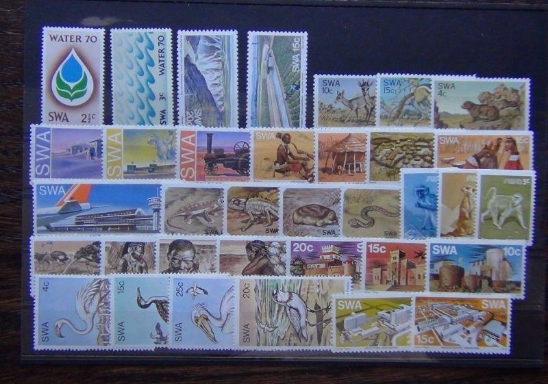 South West Africa 1970 1980 sets Fauna Airport Animals Wildlife Bushman etc MNH