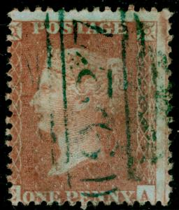 SG32, 1d brown-rose, LC14, USED. Cat £200. BLUE POSTMARK. CA