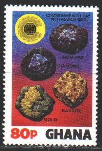 Ghana. 1983. 966 from the series. Minerals. MNH.