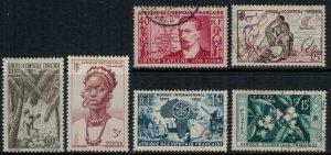 French West Africa #55-6,8,60,4,73*/u  CV $4.80