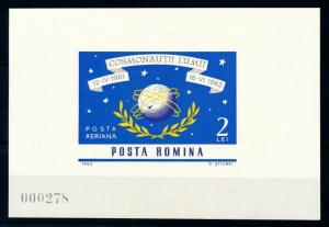 [97122] Romania 1964 Space Travel Weltraum Imperf. Sheet MNH