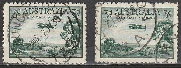 C1 Australia Air Mail Used lot of 2