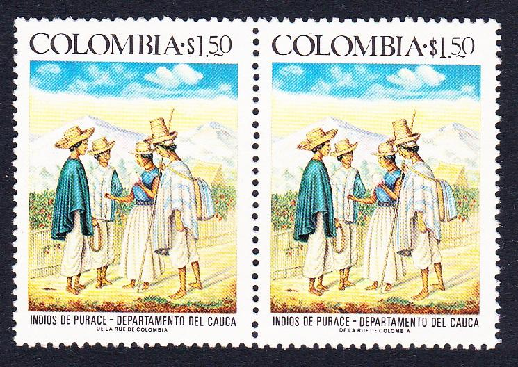 Colombia Purace Indians 1v in pair SG#1401 SC#841