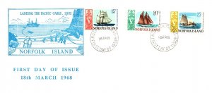 Norfolk Islands, Worldwide First Day Cover, Ships