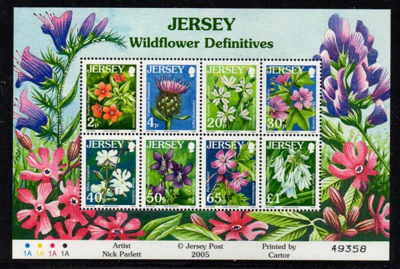 Jersey Sc 1177a 2005 Wildflowers stamp sheet mint NH
