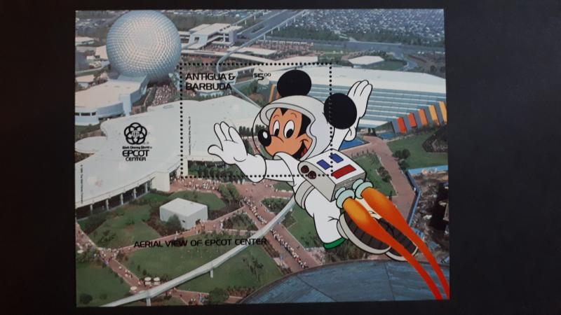 Disney - Antigua & Barbuda 1988. - EPCOT Center ** MNH Block