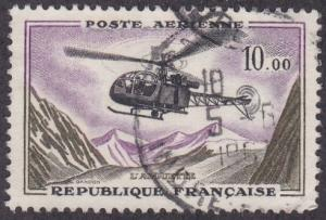 France # C40, Helicopter Alouette, Used