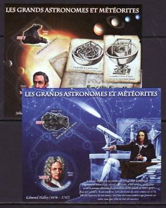 Mali, 2010 issue. Minerals & Astronomers, 2 IMPERF s/sheets. ^