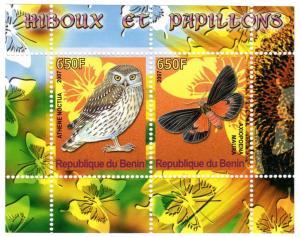 Benin 2007 Butterflies & Owls SS #1 MNH VF