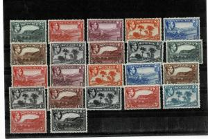 MONTSERRAT. 1938-. vlmm very fine . PERFS  14. cv 400 gbp +