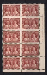 Canada #213 VF/NH Plate #3 LR Block Of 10