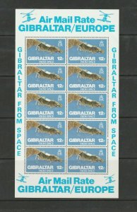 1978 Gibraltar from space - sheetlet of 10 MNH