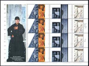 Louise Nevelson Stamp Sheet 33¢ MNH 3379-3383 Issued 2000  Sculptor