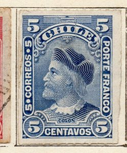 Chile 1900 Early Issue Fine Mint Hinged 5c. NW-11410