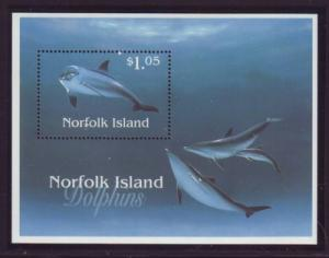 Norfolk Island Sc  623 1997 Dolphins stamp sheet mint NH