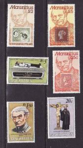 D1-Mauritius-Scott#480-2,484-6-two unused NH sets-Father Lav