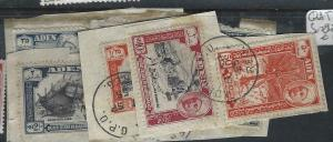 ADEN QU'AITI  (P1304B)  SET SG 29-40 PIECES   VFU