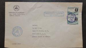 O) 1961 COSTA RICA, DIPLOMATIC CORRESPONDENCE, BRIDGE, HIGHWAY AND CLETO  GONZA