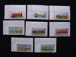 Fujeira – Trains -  8X Stamps – MNH