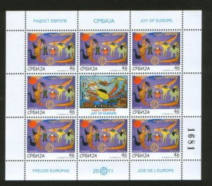 SERBIA-MNH**-S/S-JOY OF EUROPE-2011.
