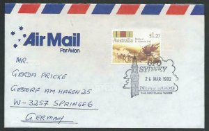AUSTRALIA 1992 cover to Germany - nice franking - Sydney Pictorial pmk.....12822