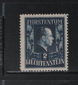 LIECHTENSTEIN 259 Hinged, 1951 types of 1944 redrawn