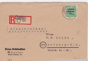 Germany Soviet Zone 1948 Lastau to Leipzig stamps cover  R20739