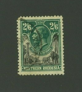 Northern Rhodesia 1925 2sh 6p George V, Scott 12 used, Value = $15.00