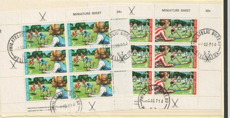 1971 NEW ZEALAND - SG: MS 963 - HEALTH - HOCKEY - USED