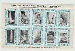 USA Cinderella stamp 9-15-40 Extra nice Niagara Falls mnh gum
