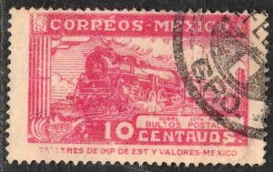MEXICO Q1, 10¢ PARCEL POST. STEAM ENGINE. USED. F-VF (1466)