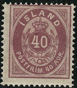 Iceland Attractive Sc #18 Mint OG hr Fine SCV $75