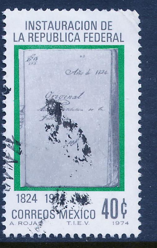 MEXICO 1068 Sesquicentennial of Federal Republic Used (574)