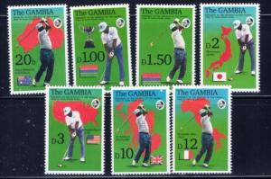 Gambia 1306-12A NH 1992 Golf set