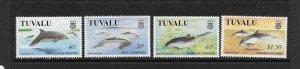 FISH -TUVALU #772-5  DOLPHINS & PORPOISES  MNH
