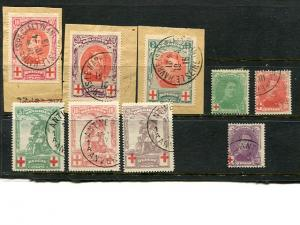 Belgium #B1-9  used  VF - Lakeshore Philatelics
