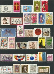 GERMANY Sc#1159//1357 1975-1981 53 Different Stamps Most Complete Mint NH