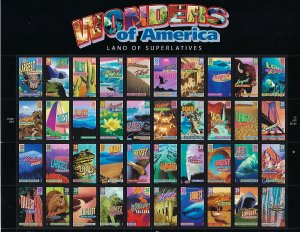 Catalog # 4033 72 Sheet  of 40 Wonders of America Scenic Attractions