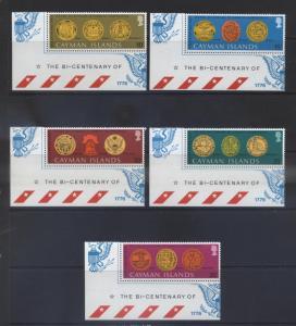 Cayman Islands -Scott 371-76 - USA Bicentennial.-1976 -MNH-Set of 5 Stamp