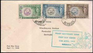 BERMUDA 1949 Stamp Centenary commem FDC...................33419