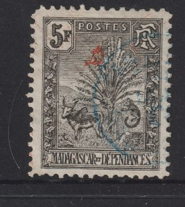 Madagascar a used 5F from the 1903 set