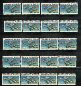 1684 Commercial Aviation Wholesale Lot Of 20 US Single Mint/nh FREE SHIPPING