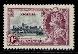 NIGERIA GV SG33, 1s slate & purple, LH MINT. Cat £10.