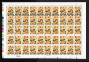 US 2948 Love Non Denominated 32 cent Sheet of 50 MNH 1995