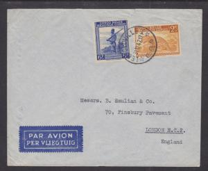 Belgian Congo Sc 199, 203 on 1947 Air Mail cover to London