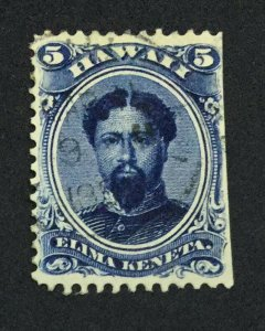 MOMEN: US STAMPS HAWAII #5c USED $150 LOT #44120