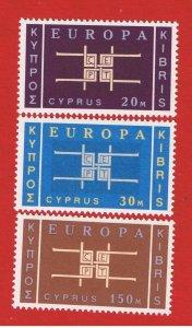 Cyprus #229-231 MNH OG  Europa
