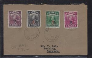 SARAWAK POSTAL HISTORY (P1509B) COVER 1948 ROYAL CYPHER 4 VALUES DEBAK TO KUC